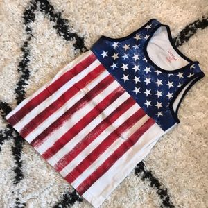 Boy's American Flag Tank Top